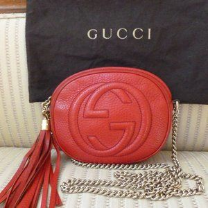 Gucci Soho Mini Chain Crossbody Bag